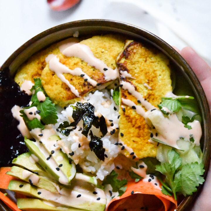 Yellow Tofu Sushi Bowl