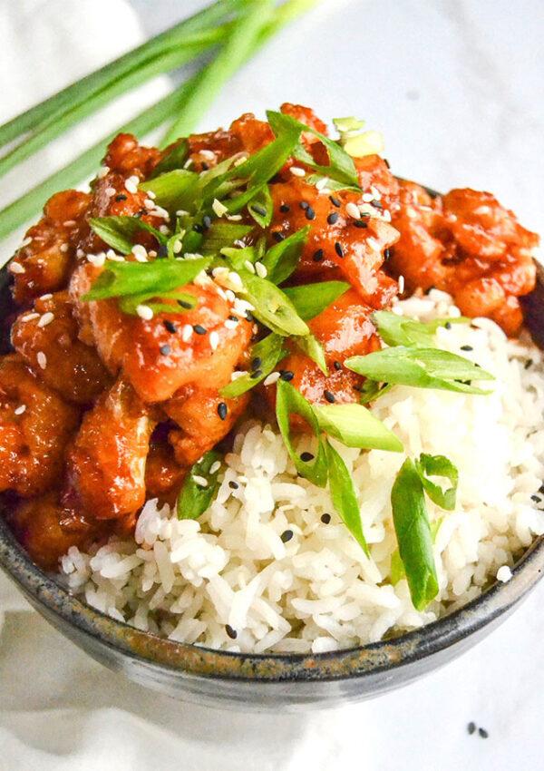 Vegan Fried Korean Cauliflower (gluten free)