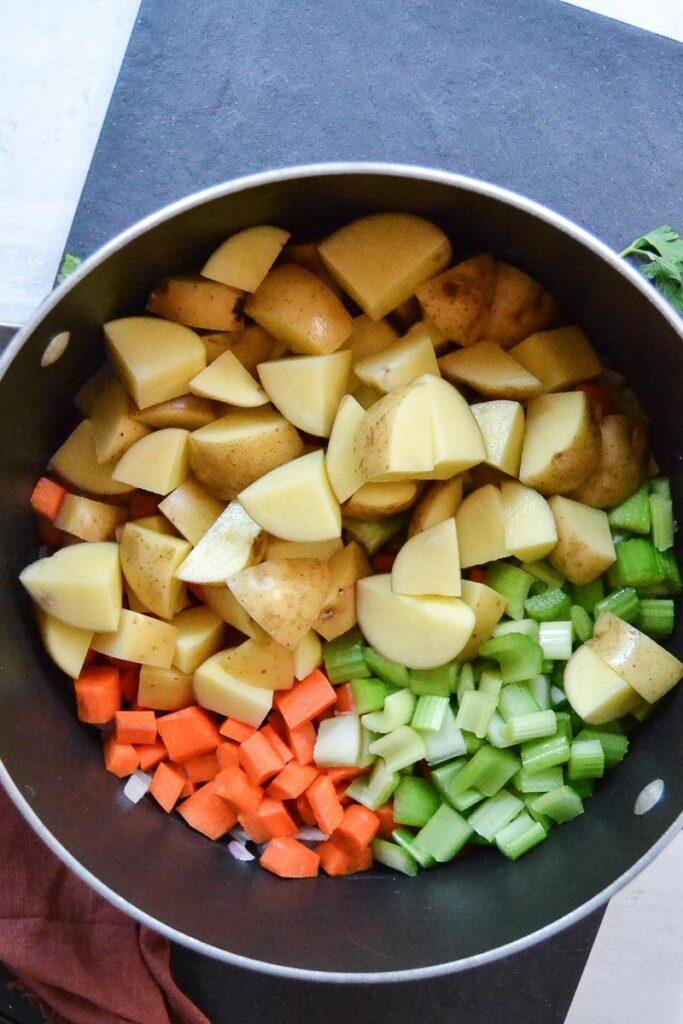 stew ingredients before cooking