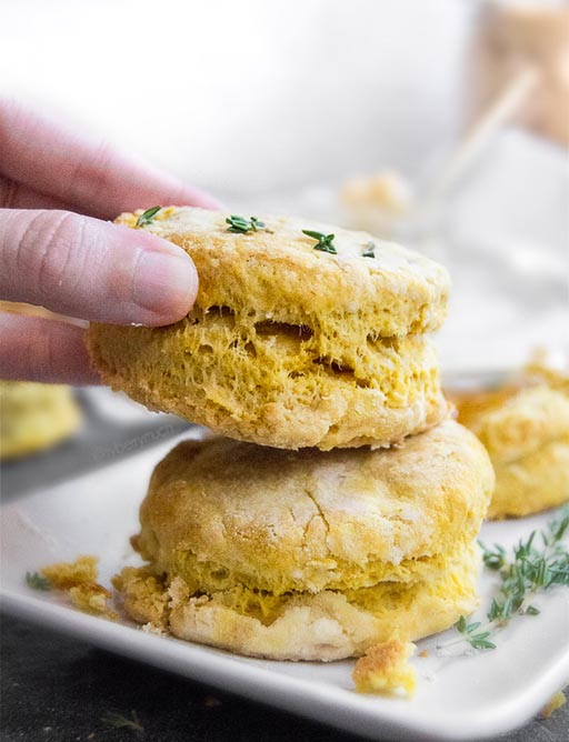 Vegan Pumpkin Biscuits with Whipped Maple Butter