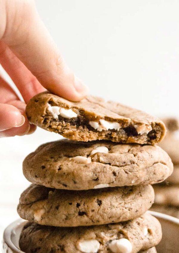 Vegan Espresso White Chocolate Cookies
