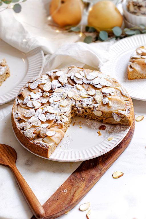 Vegan Italian Pear Almond Cake