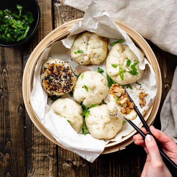 Steamed Vegan Hoisin Tofu Bao