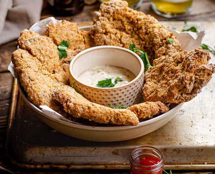 vegan air fried chicken