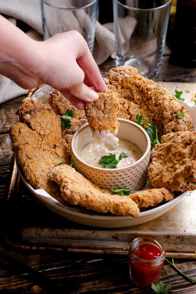 Vegan Buttermilk Air Fryer Chicken