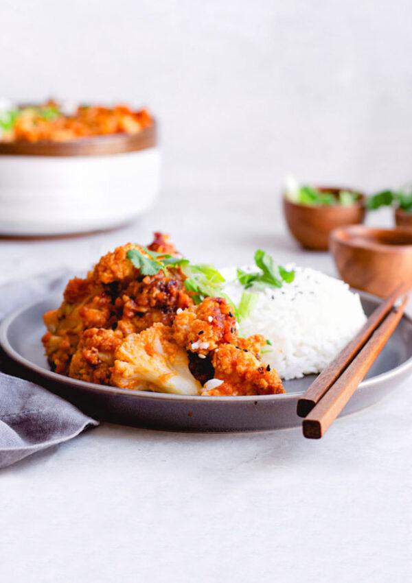 Air-Fried Korean Chili Cauliflower (Vegan)