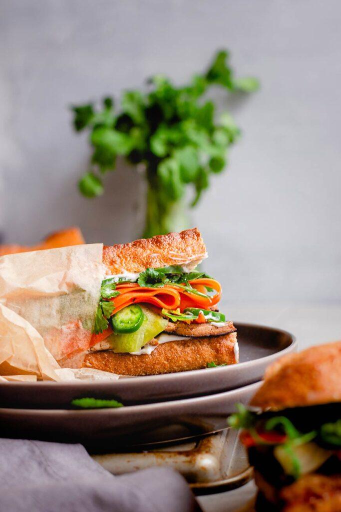 easy tofu bánh mì