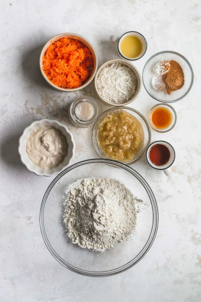 the muffin ingredients