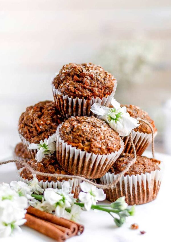 Fluffy Vegan Carrot Muffins