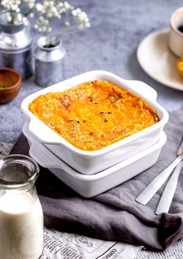 Vegan Baked Cheese Grits