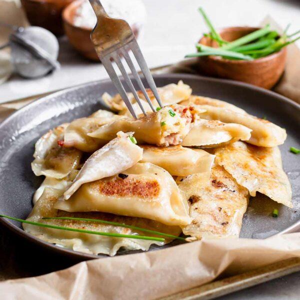 Easy Vegan Pierogies (Potato & Cheddar)