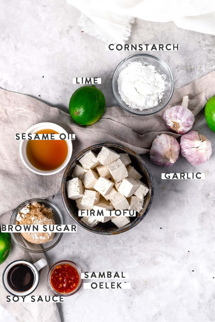 the tofu ingredients