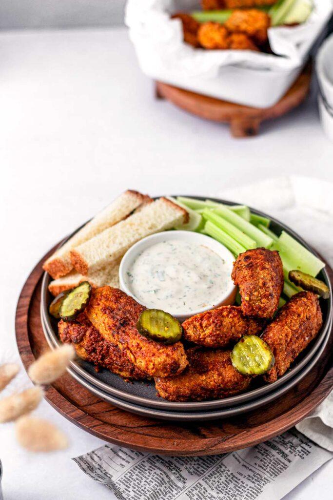 vegan nashville hot chicken wings