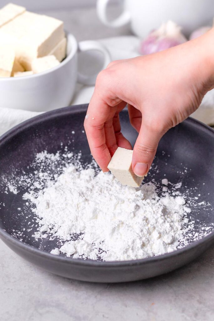 cornstarch in a bowl