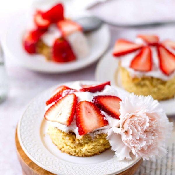 Vegan Brown Sugar Strawberry Shortcake