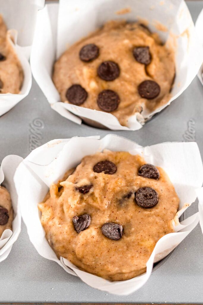 the muffin batter unbaked