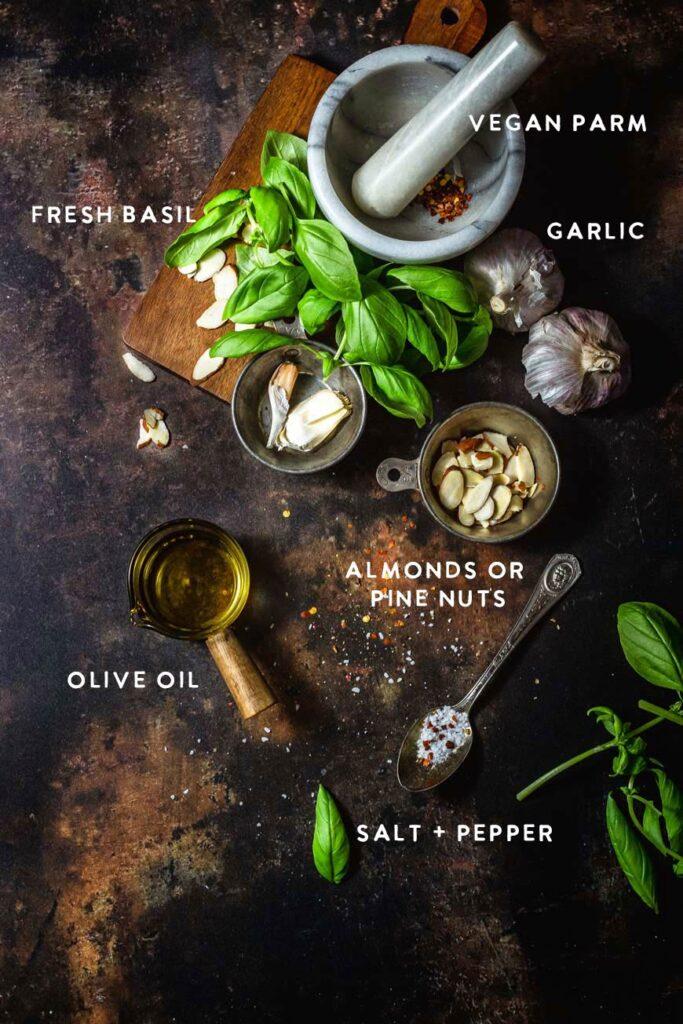 classic vegan basil pesto ingredients