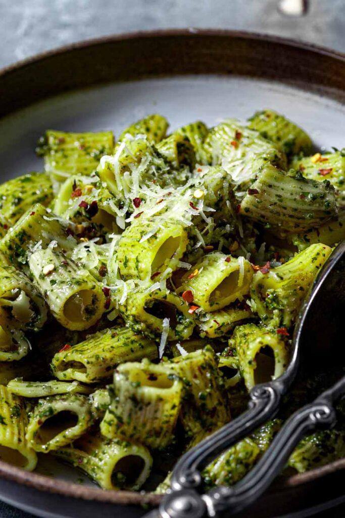 vegan pesto pasta