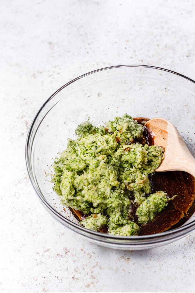 zucchini in bowl