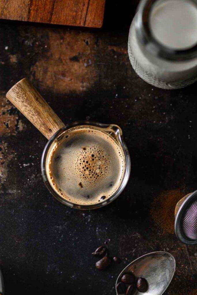 two shots of blonde espresso