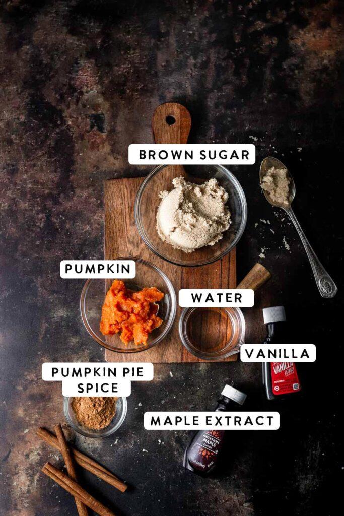 the pumpkin brown sugar syrup ingredients