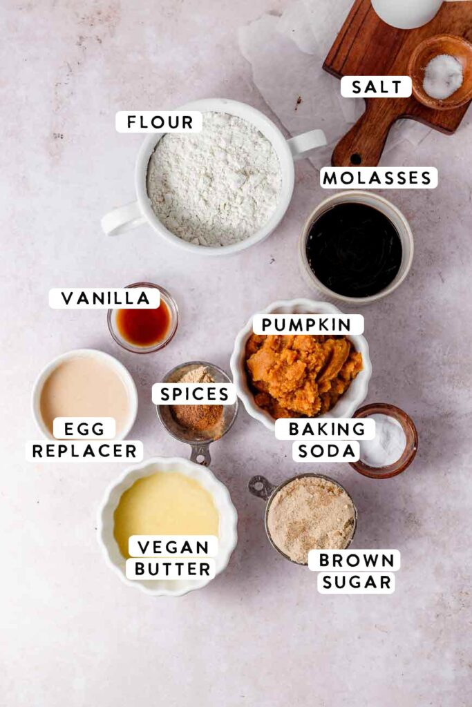 the pumpkin bread ingredients