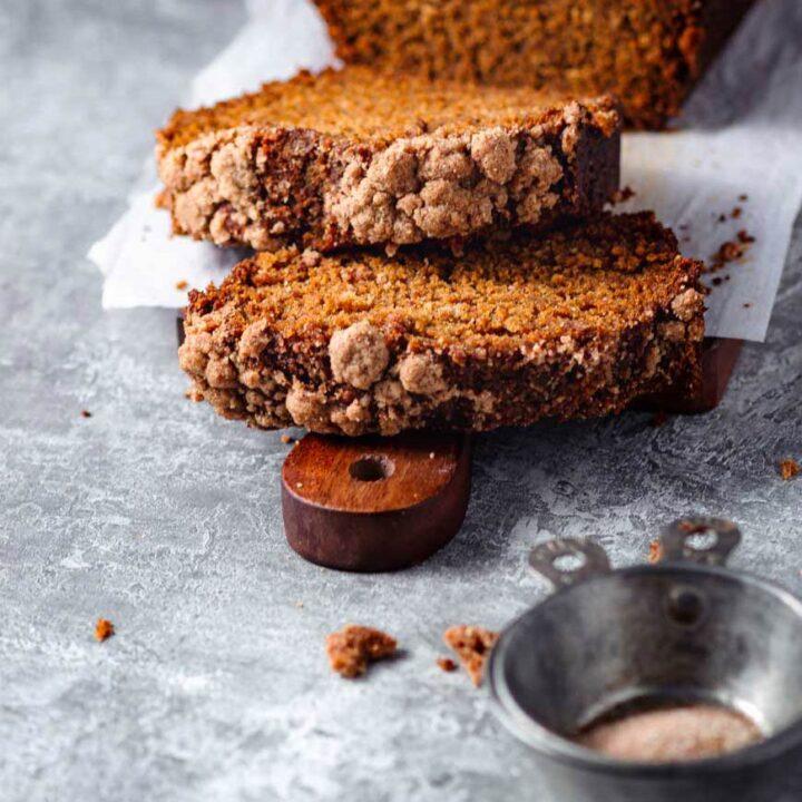 vegan snickerdoodle pumpkin bread