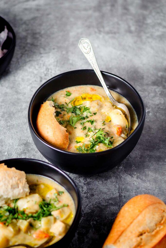 vegan chicken gnocchi soup