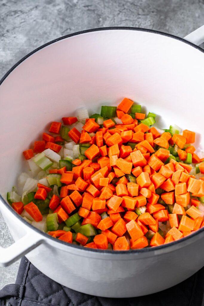 vegetable in pot