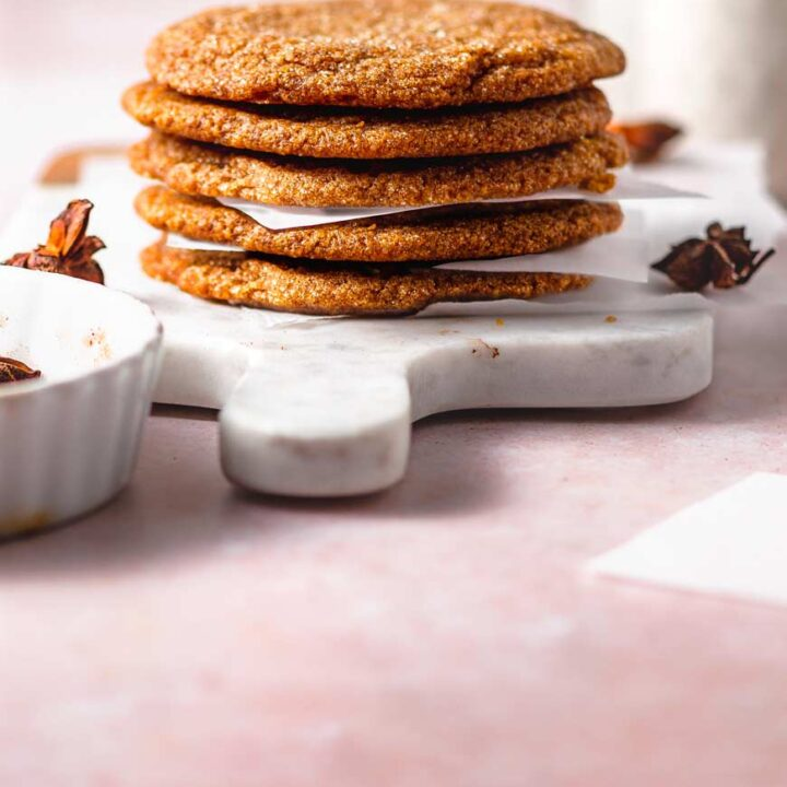 thin and chewy vegan pumpkin cookies