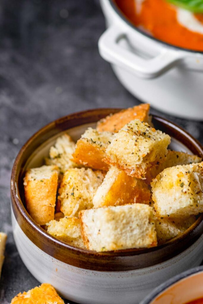 crunchy baked homemade croutons