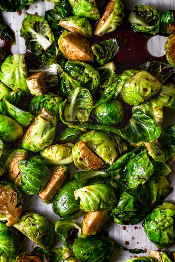 maple balsamic brussel sprouts