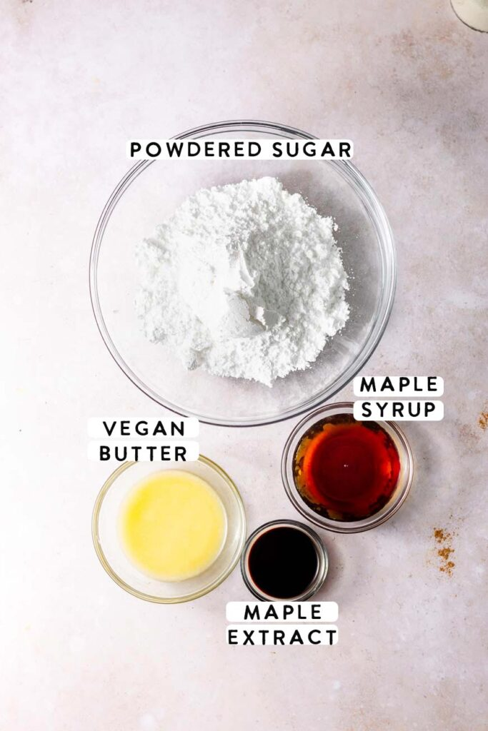 maple icing ingredients