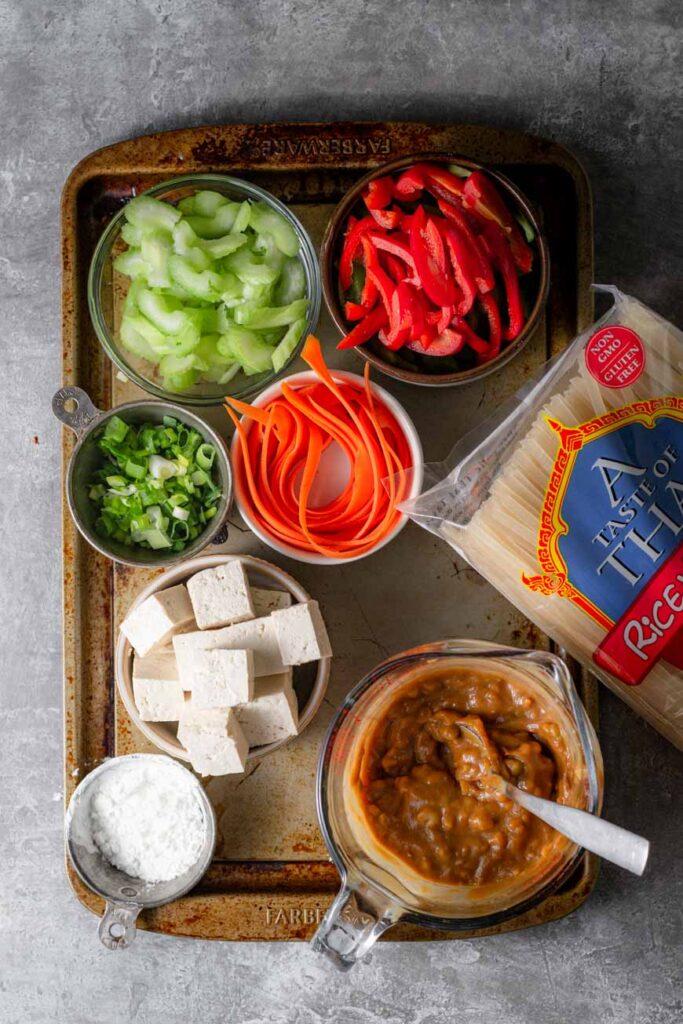 vegan satay noodle ingredients