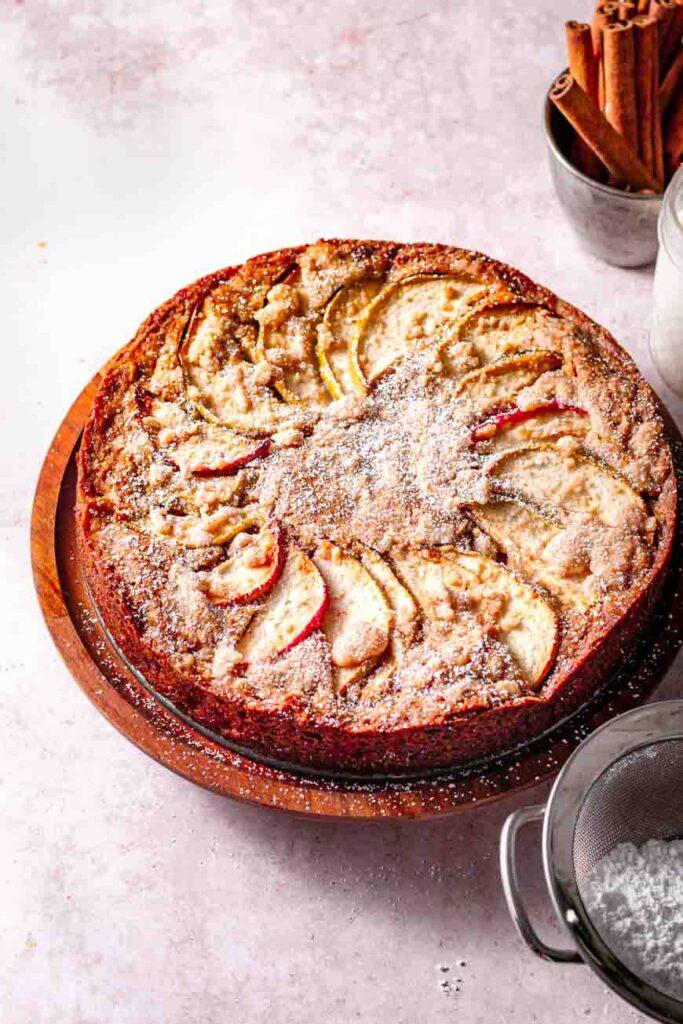 Eggless Apple Cinnamon Cake