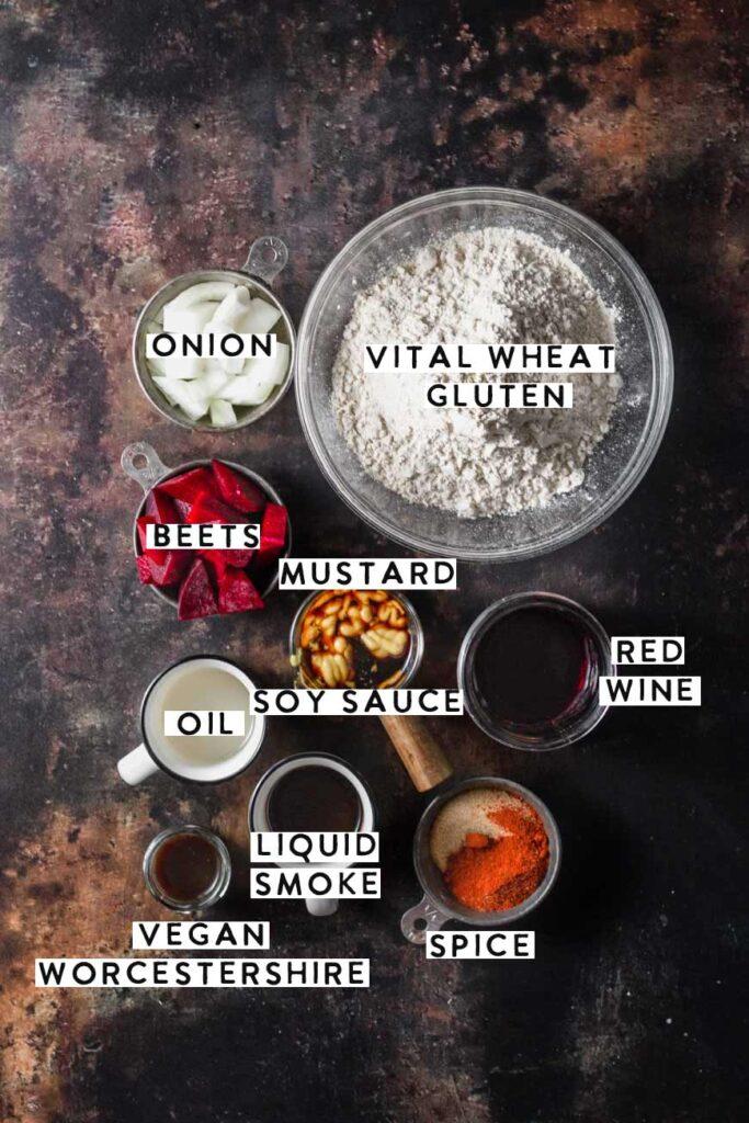 the vegan steak ingredients