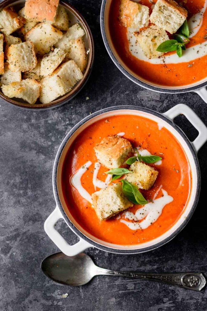 croutons for tomato soup