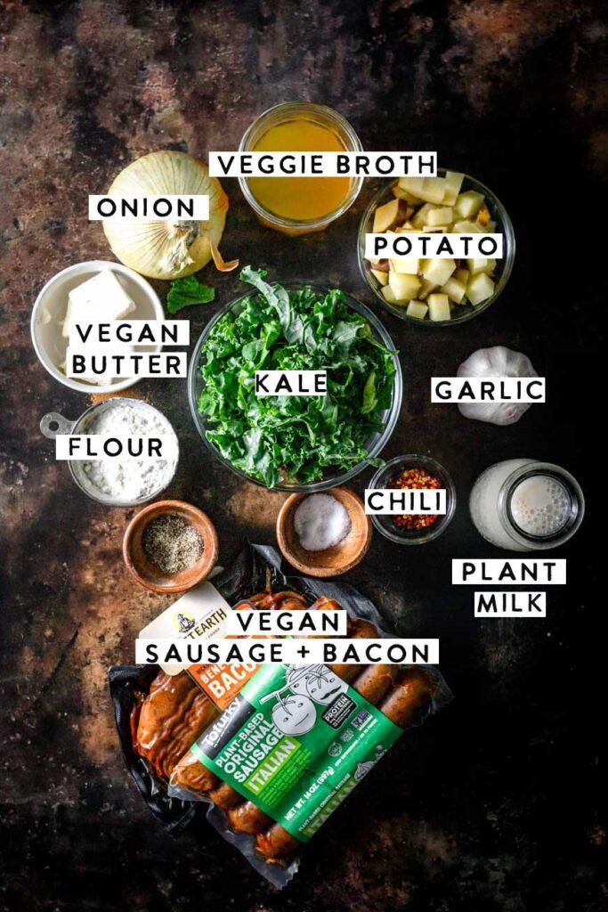 vegan zuppa toscana ingredients